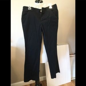 Girls black chino pants